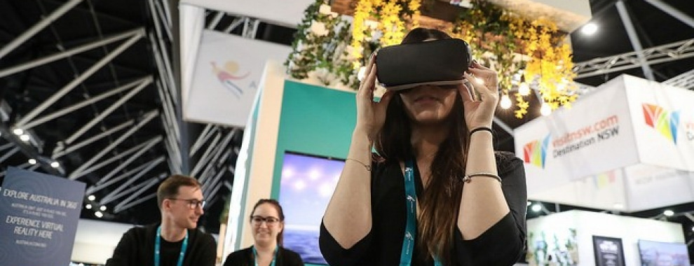 Virtual Reality at ATE17 Sydney NSW © Tourism Australia