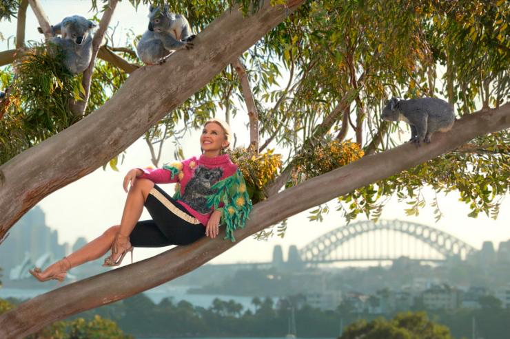 Kylie Minogue at Taronga Zoo, Sydney, NSW