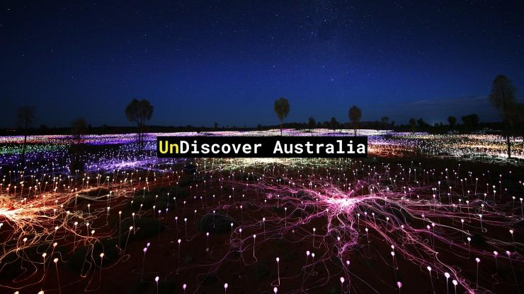 UnDiscover Australia - Field of Light, Uluru-Kata Tjuta National Park, NT