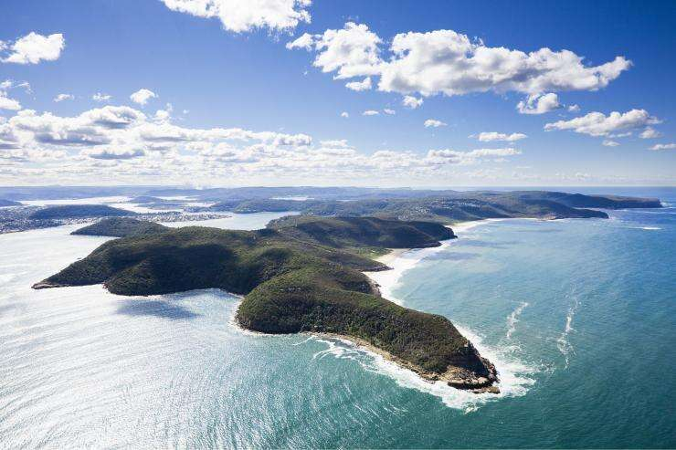 Aerial of Box Head and Broken Bay, Bouddi National Park, NSW © Destination NSW