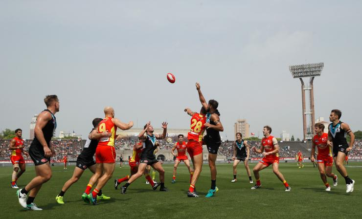 Gold Coast Suns and Port Adelaide at the Jiangwan Stadium, China